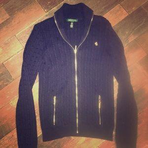 Ralph Lauren ZIP up cardigan sweater